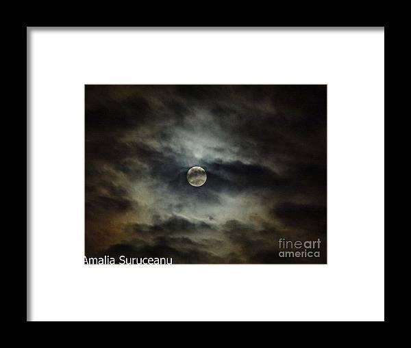 Moon Framed Print featuring the photograph 50 Shades of the Moon by Amalia Suruceanu