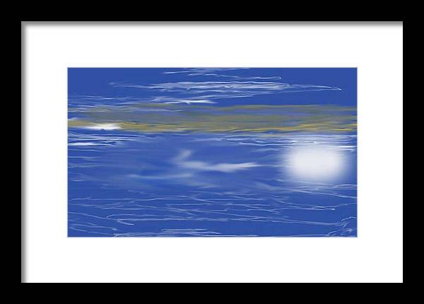 Digital Art Framed Print featuring the digital art 500 Miles by Dan MacDonald