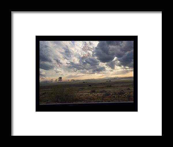 Rodeo Framed Print featuring the photograph Ghost Riders In The Sky - 500050 by TNT Images