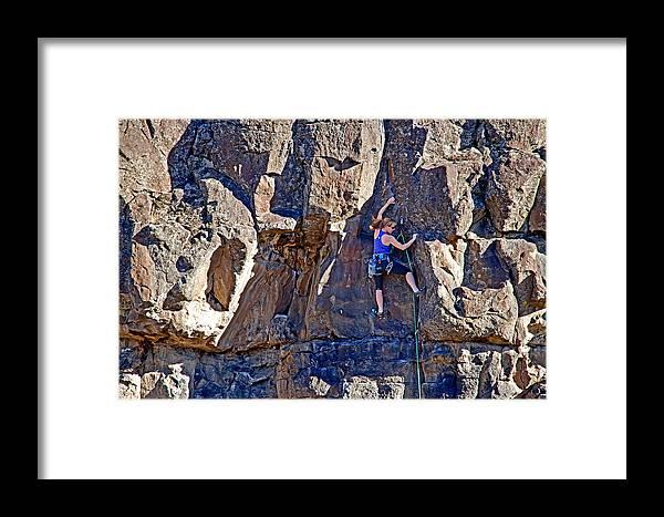 Mandi Eldridge Framed Print featuring the photograph Rock Climb by Elijah Weber