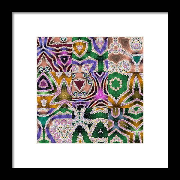 Patterns Framed Print featuring the digital art 517 by John Holfinger