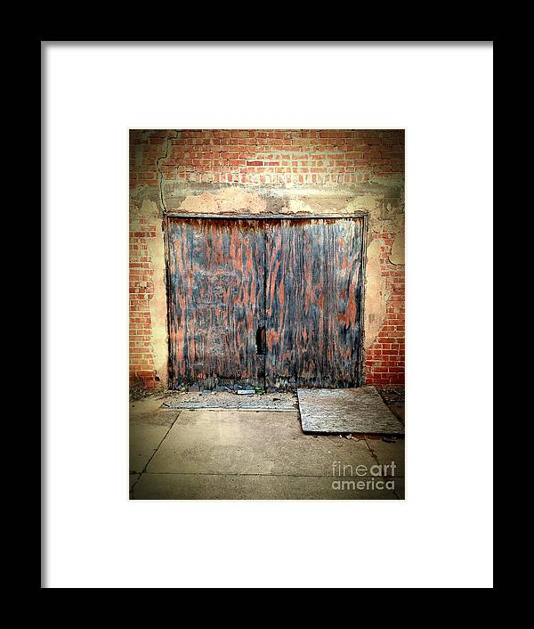 Door Framed Print featuring the photograph 524 Indie by Sara Webb