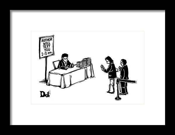 Author Framed Print featuring the drawing New Yorker December 25th, 2006 by Drew Dernavich