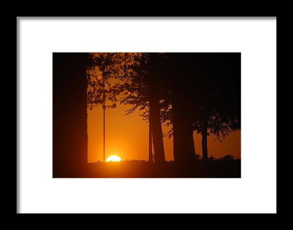 Sunset Framed Print featuring the photograph Sunset by William Copeland