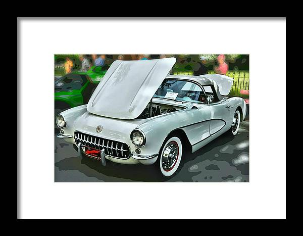 Victor Montgomery Framed Print featuring the photograph '56 Corvette by Victor Montgomery