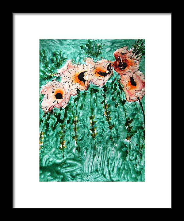 Floral Art Framed Print featuring the mixed media Heavenly Flowers by Baljit Chadha