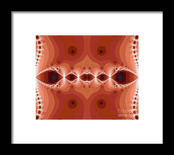Abstract Framed Print featuring the digital art Fantasy Fractal by Odon Czintos