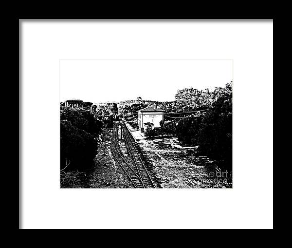 Arzachena Framed Print featuring the photograph Arzachena Railway Station by Giuseppe Cocco