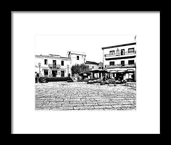 Arzachena Framed Print featuring the photograph Arzachena Square by Giuseppe Cocco