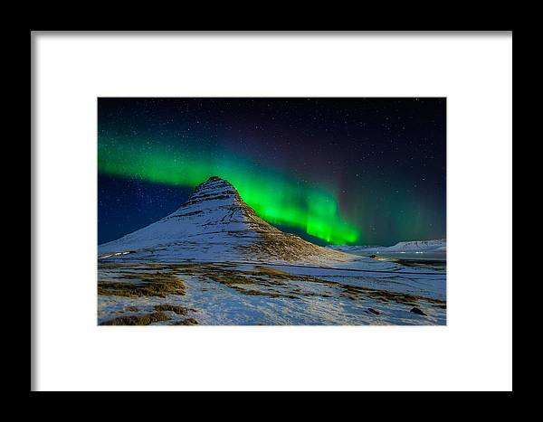 Photography Framed Print featuring the photograph Aurora Borealis Or Northern Lights by Panoramic Images
