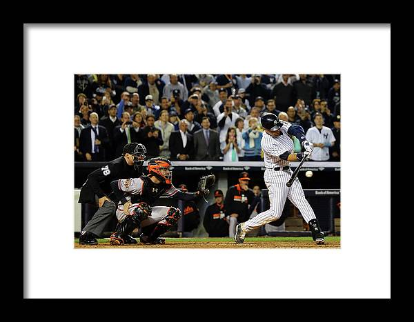 Ninth Inning Framed Print featuring the photograph Baltimore Orioles V New York Yankees by Al Bello