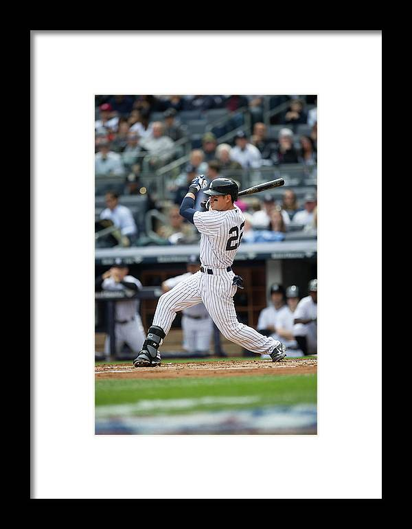 American League Baseball Framed Print featuring the photograph Baltimore Orioles V New York Yankees 6 by Rob Tringali