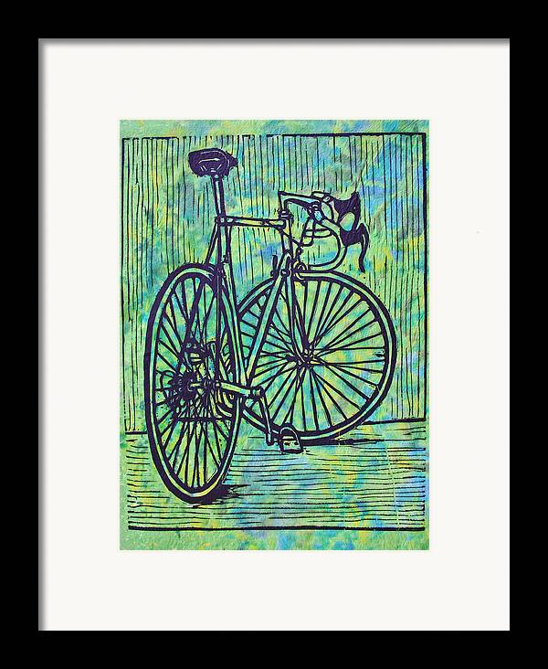 Bike Framed Print featuring the drawing Bike 4 by William Cauthern