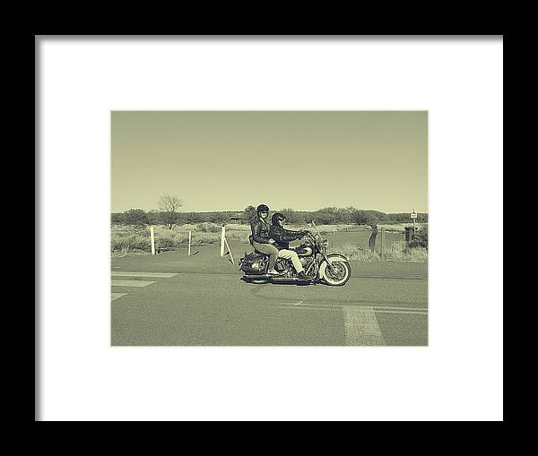 Bike Framed Print featuring the photograph Bike Ride by Girish J