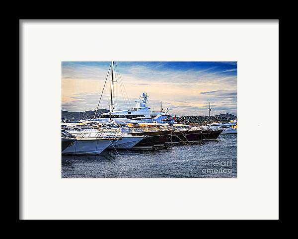 Yacht Framed Print featuring the photograph Boats At St.tropez by Elena Elisseeva