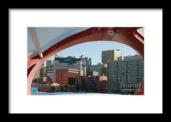 Calgary Framed Print featuring the photograph Calgary Peace Bridge by Helen Bobis