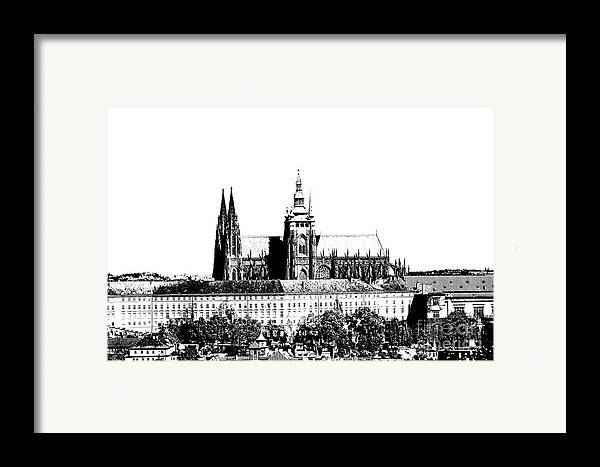 Castle Framed Print featuring the digital art Cathedral Of St Vitus by Michal Boubin