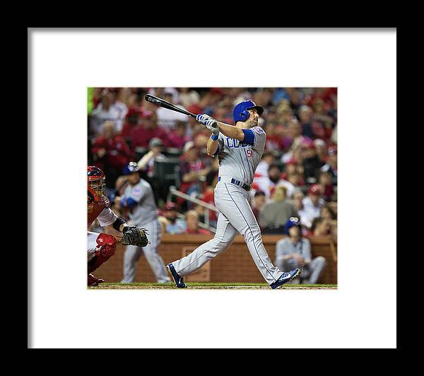 Following Framed Print featuring the photograph Chicago Cubs V St. Louis Cardinals by David Welker