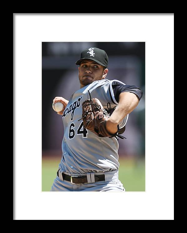 American League Baseball Framed Print featuring the photograph Chicago White Sox V Oakland Athletics by Thearon W. Henderson