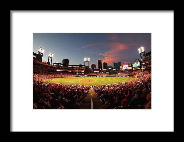St. Louis Cardinals Framed Print featuring the photograph Cincinnati Reds V St Louis Cardinals by Dilip Vishwanat