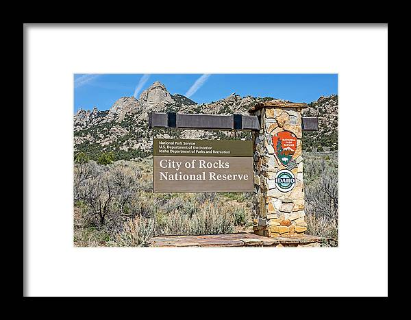 City Of Rocks Framed Print featuring the photograph City Of Rocks by Elijah Weber