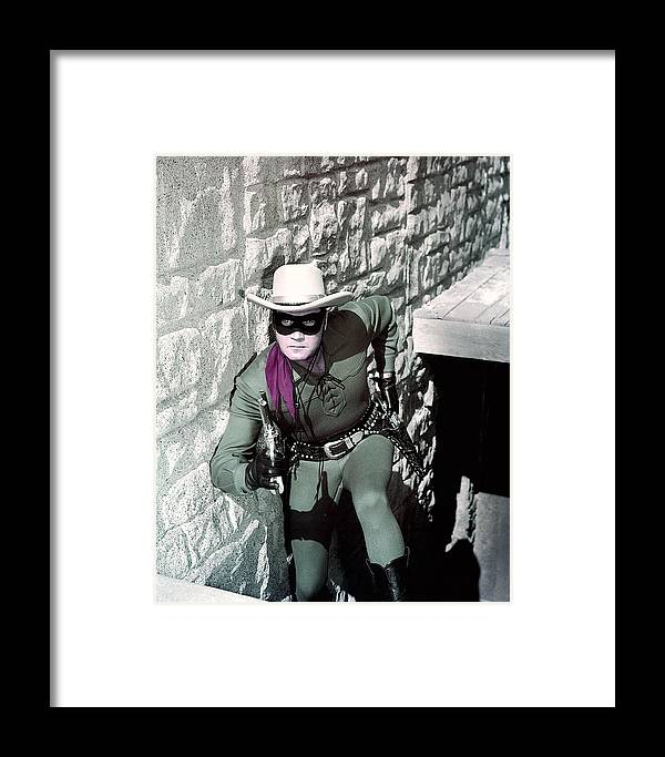 The Lone Ranger Framed Print featuring the photograph Clayton Moore In The Lone Ranger by Silver Screen