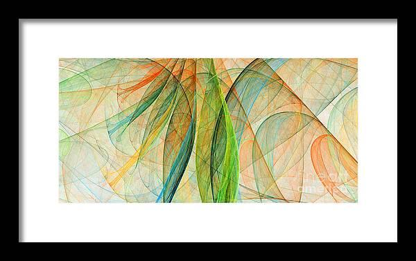 Scarf Framed Print featuring the digital art Colorful Silk Scarf by Odon Czintos