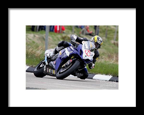 Motorbikes Framed Print featuring the photograph Dan Kneen by Richard Norton Church