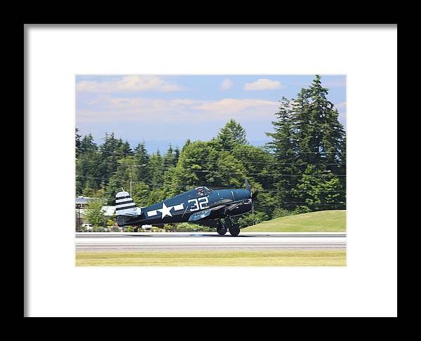 Grumman Framed Print featuring the photograph Grumman Hellcat by Paul Fell