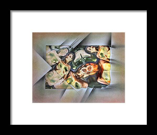 #6 Framed Print featuring the mixed media #6 Innocence 2003 by Glenn Bautista