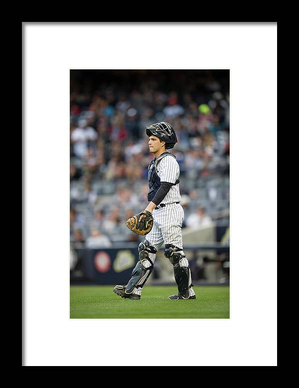 American League Baseball Framed Print featuring the photograph Los Angeles Angels Of Anaheim V New by Rob Tringali