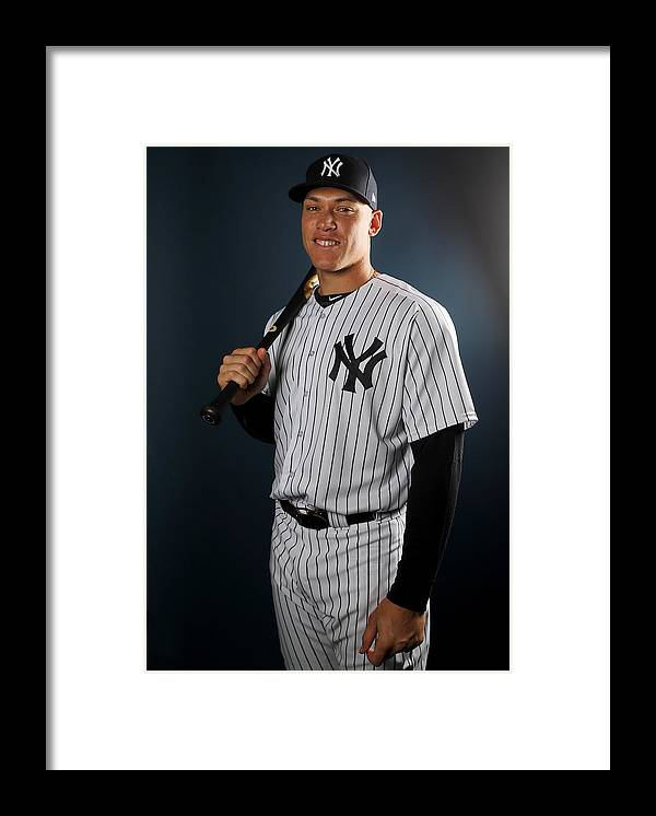 Media Day Framed Print featuring the photograph New York Yankees Photo Day by Elsa