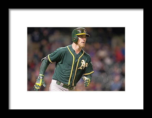 American League Baseball Framed Print featuring the photograph Oakland Athletics V Cleveland Indians 6 by Jason Miller