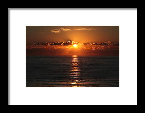 Framed Print featuring the photograph Ocean City Md Sunrise by Scott Fracasso