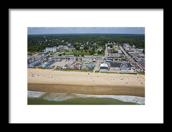 America Framed Print featuring the photograph Old Orchard Beach, Maine by Dave Cleaveland