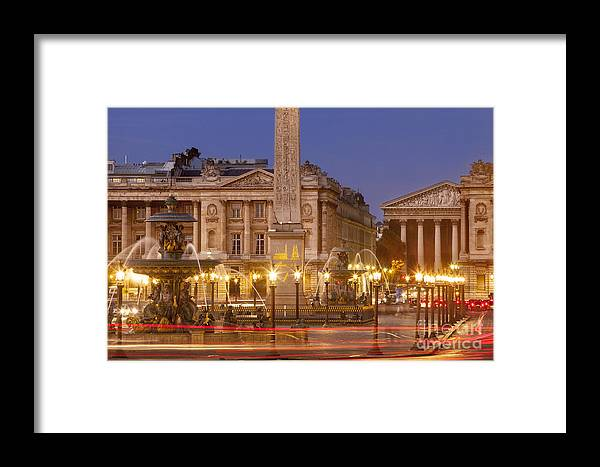 Architectural Framed Print featuring the photograph Place De La Concorde by Brian Jannsen