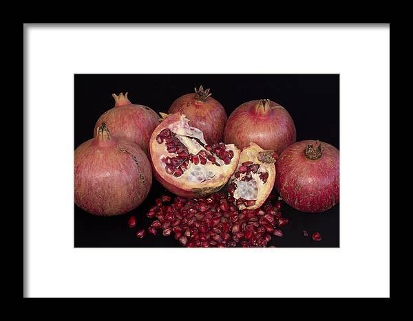 Pomegranates Framed Print featuring the photograph Pomegranates by Manolis Tsantakis
