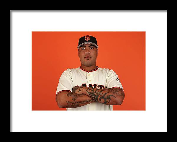 Media Day Framed Print featuring the photograph San Francisco Giants Photo Day by Christian Petersen