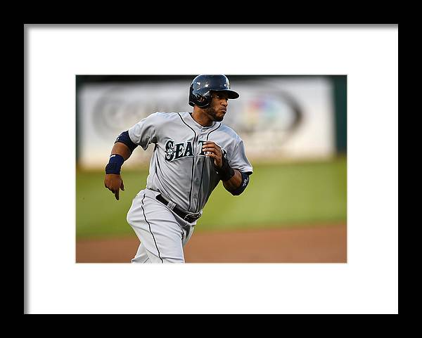 American League Baseball Framed Print featuring the photograph Seattle Mariners V Oakland Athletics by Thearon W. Henderson