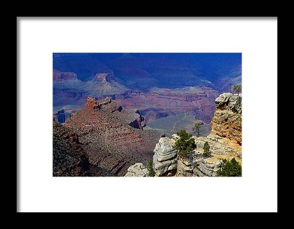 Grand Canyon Framed Print featuring the photograph South Rim Of The Grand Canyon by Jeffrey Hamilton