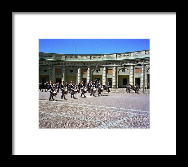 Sweden Framed Print featuring the photograph Stockholm Guard Change by Ted Pollard