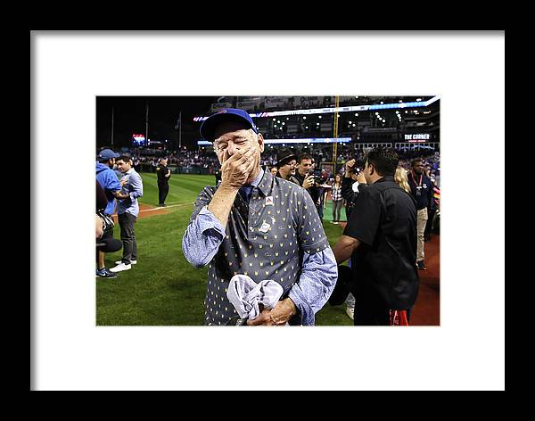 People Framed Print featuring the photograph World Series - Chicago Cubs V Cleveland 6 by Ezra Shaw