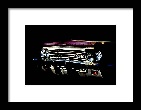 66 Chevy Impala Framed Print featuring the photograph 66 Chevy Impala by Glenn Thompson