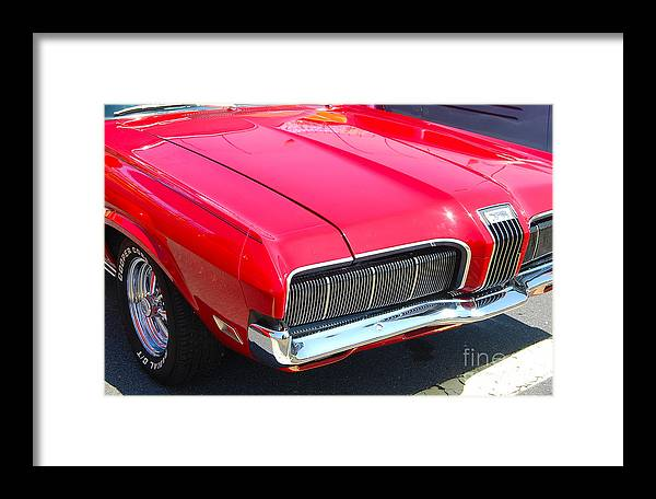 American Muscle Car Framed Print featuring the photograph '68 Mercury Cougar by Mark Spearman