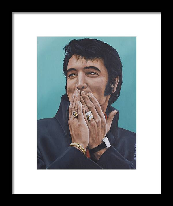 Elvis Framed Print featuring the painting 69 Press Conference by Rob De Vries