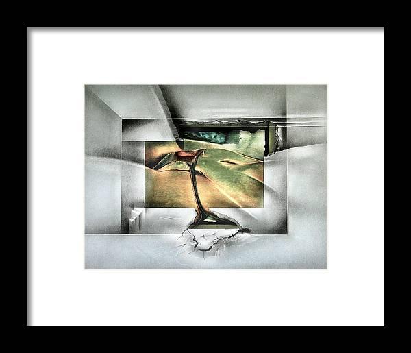 #7 Framed Print featuring the mixed media #7 Bikiniscape 2003 by Glenn Bautista