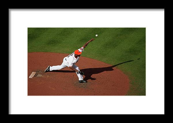 American League Baseball Framed Print featuring the photograph Chicago White Sox V Houston Astros 7 by Scott Halleran