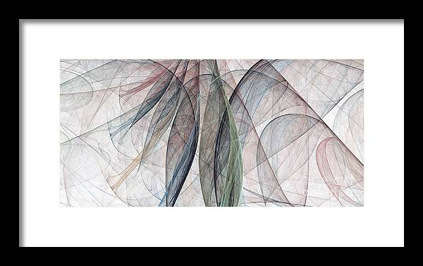 Scarf Framed Print featuring the digital art Colorful Silk Scarf by Odon Czintos