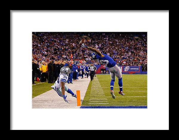 667550f59 Odell Beckham Framed Print featuring the photograph Dallas Cowboys V New  York Giants by Al Bello
