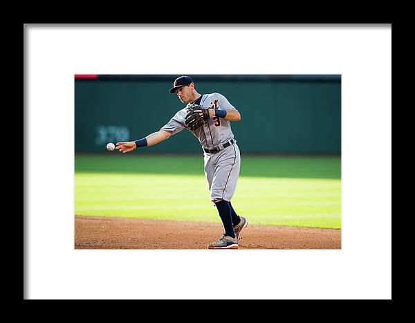 Second Inning Framed Print featuring the photograph Detroit Tigers V Cleveland Indians 7 by Jason Miller